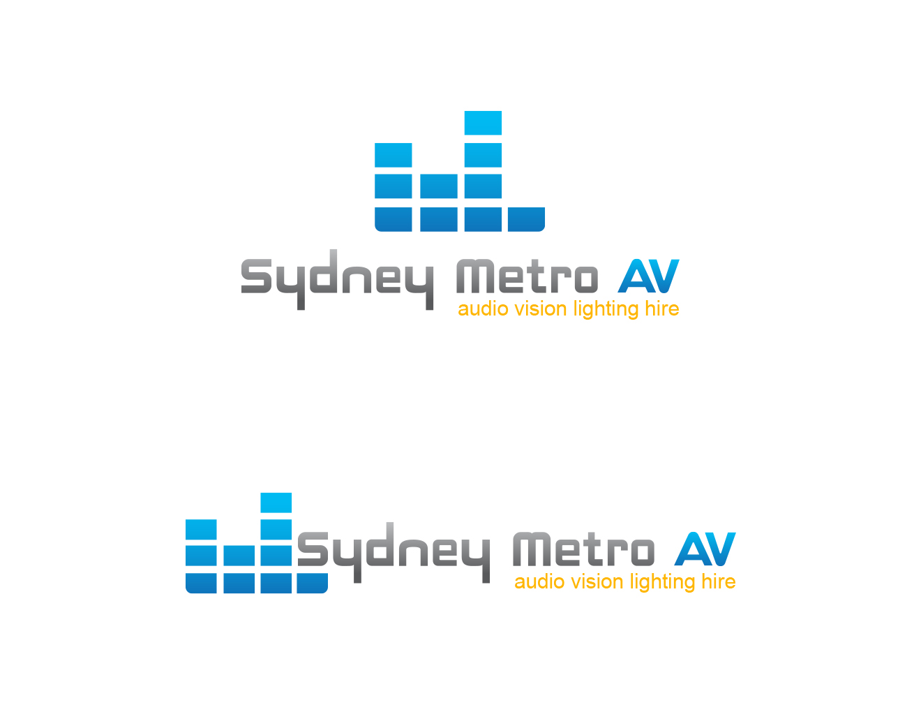 It Company Logo Design for Sydney Metro AV audio visual lighting