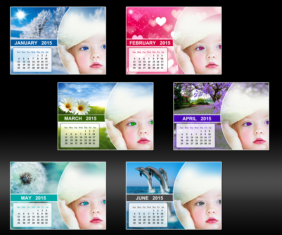 Baby Calendar Design : Baby calendar design for a company by mdesigns