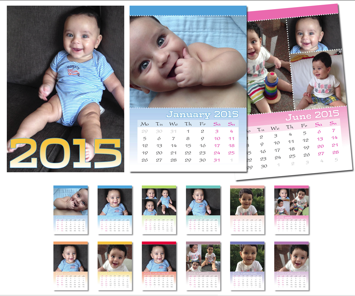Baby Calendar Design : Baby calendar design for a company by michele co