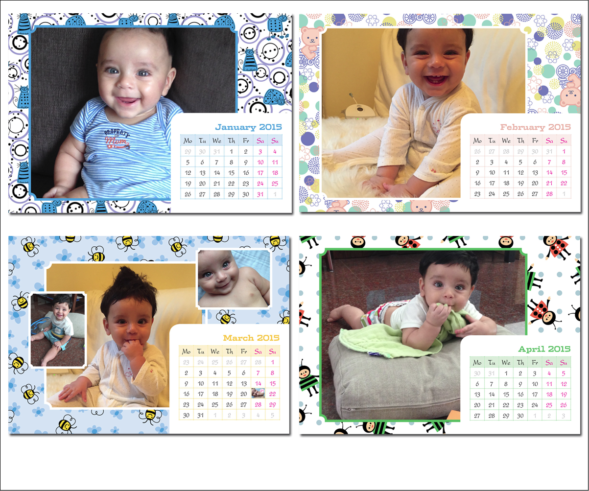 Calendar Design Baby : Calendar design for asim qureshi by michele co