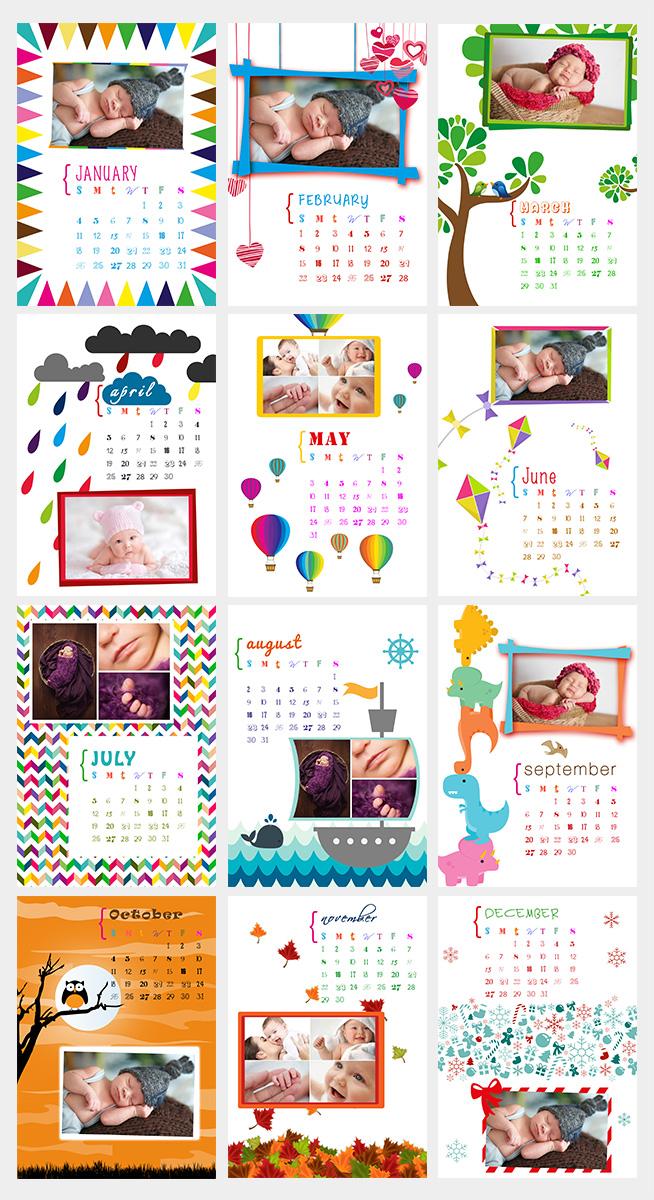 Calendar Design Baby : Baby calendar design for a company by tomi and edó