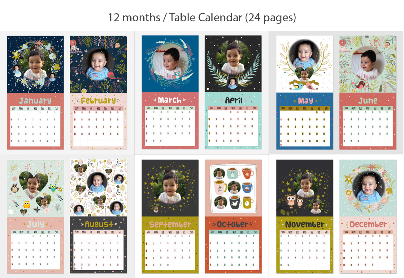 Baby Calendar Design : Baby calendar design for a company by eden b