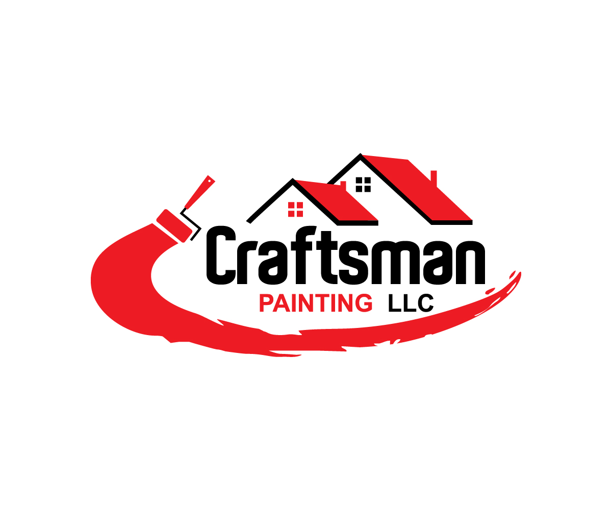 Paint logo design for craftsman painting llc by crest for Painting and decorating logo ideas