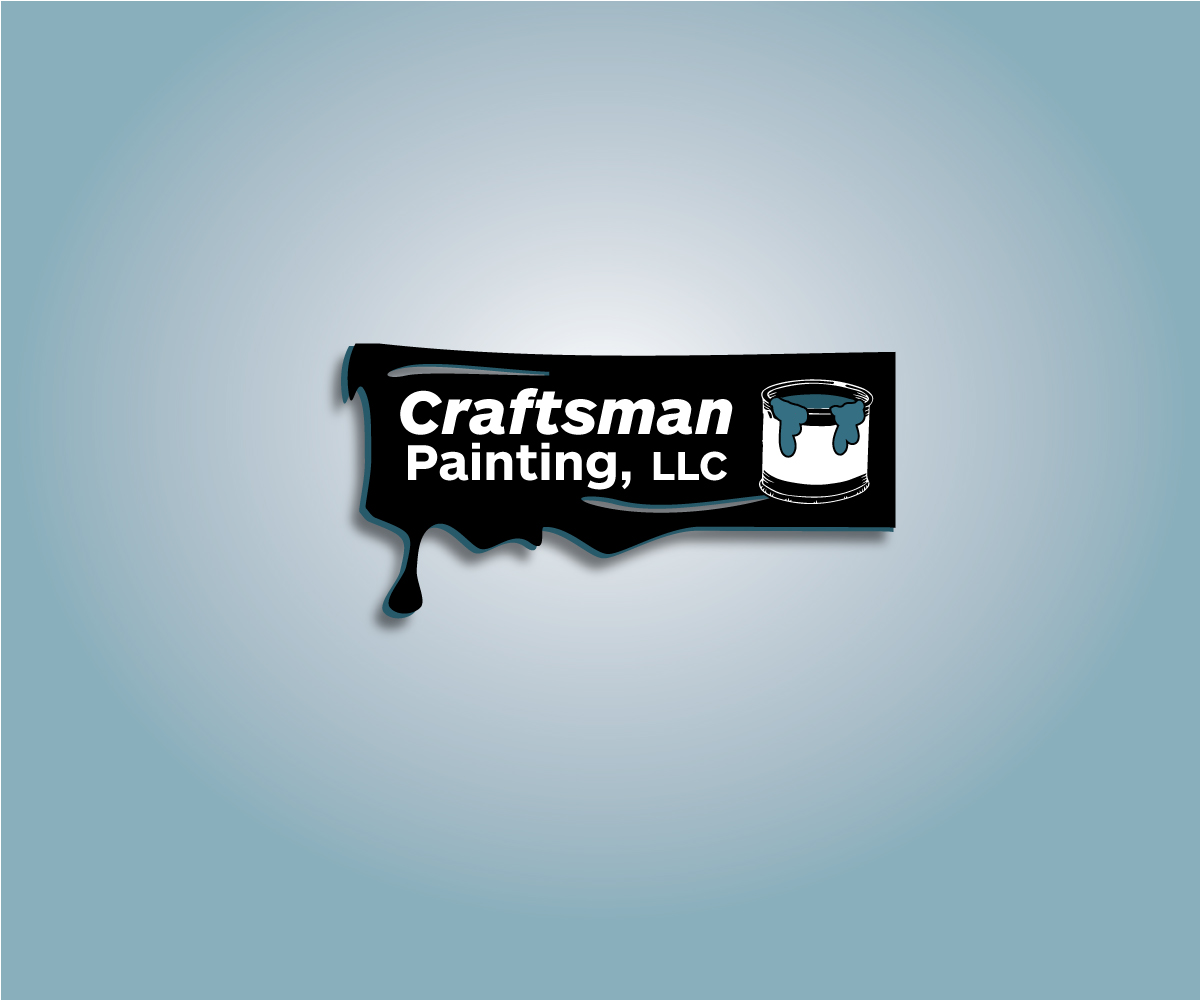 paint logo design for craftsman painting llc by wall jamboree