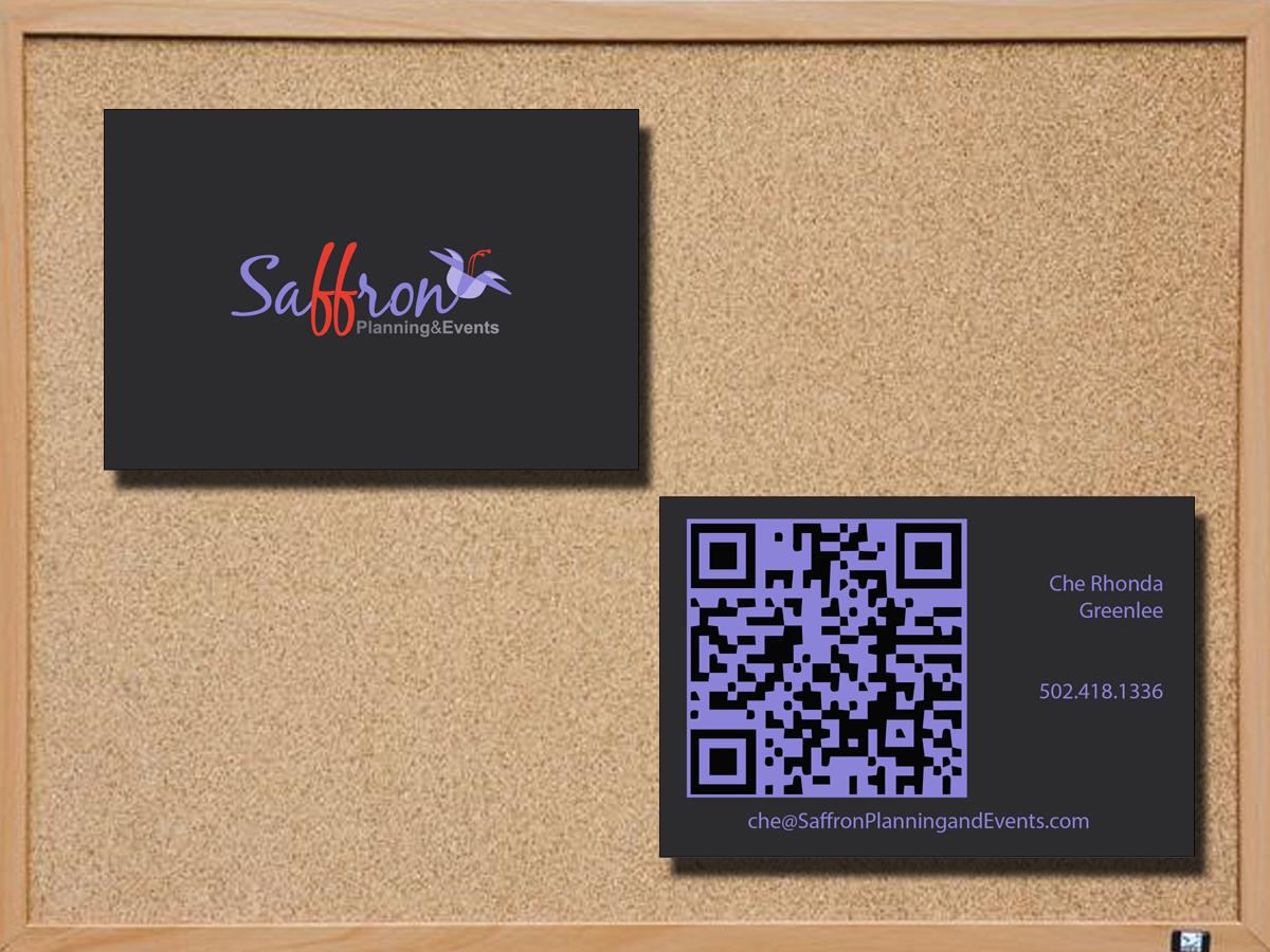 Design De Carte Visite Moderne Audacieux Event Planning Pour Saffron Events En Aux United States