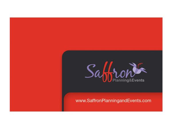 Modern Bold Event Planning Business Card Design For Saffron