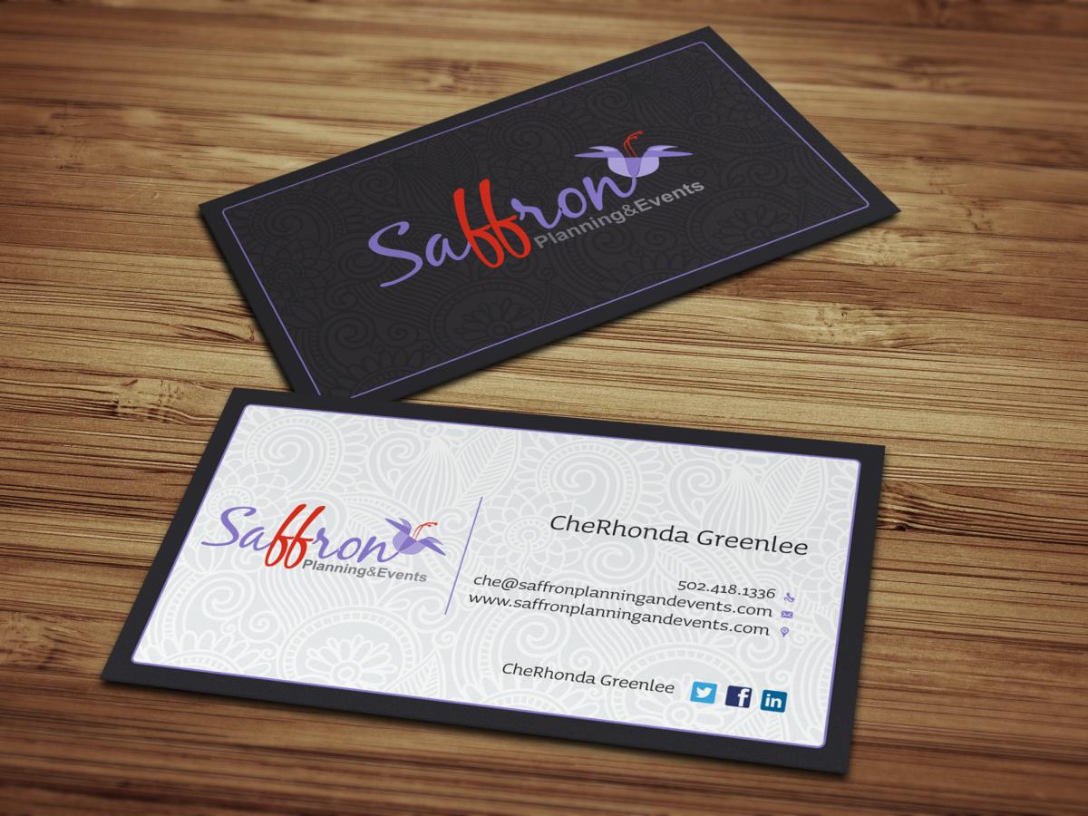 36 modern business card designs event planning business card business card design by hypdesign for saffron planning events design 1720422 colourmoves