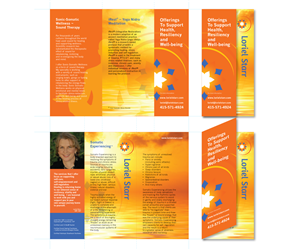 Brochure Design by Simon Hon - Healing Arts Brochure with Simple, Elegant, Zen ...