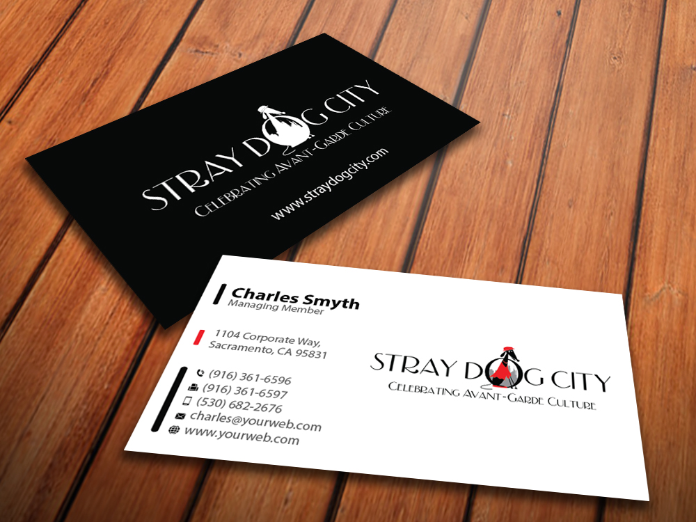 Business Card Design for Stray Dog City by MediaProductionArt ...