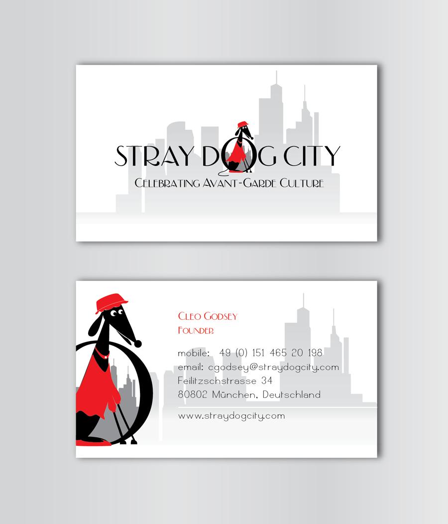 Digital Business Card Design for Stray Dog City by TALIA   Design ...