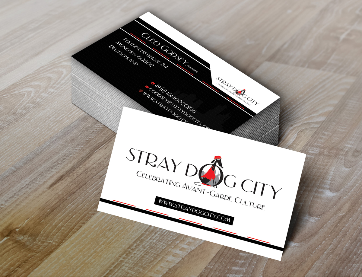 Business Card Design for Stray Dog City by Maggidesign | Design ...
