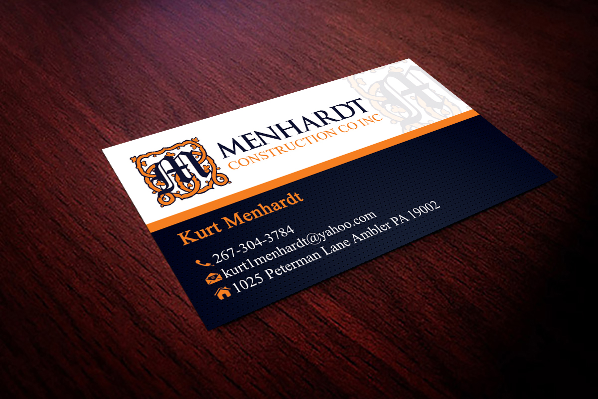 Business Card Design For Kurt Menhardt By