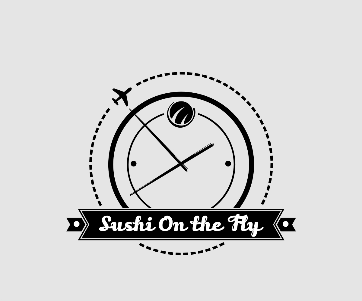 restaurant logo design for sushi on the fly by m m c design 5336647. Black Bedroom Furniture Sets. Home Design Ideas