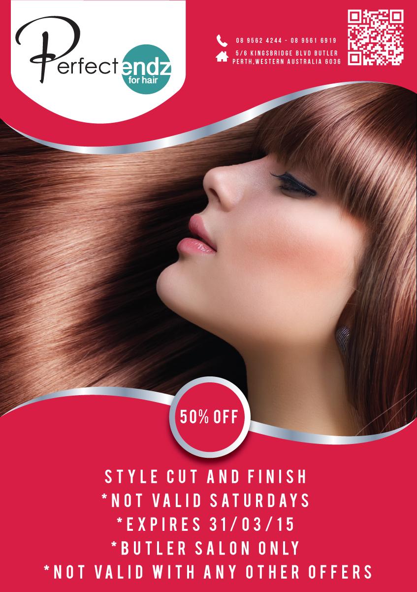 Elegant Feminine Salon Flyer Design For A Company By Hadi Graphics