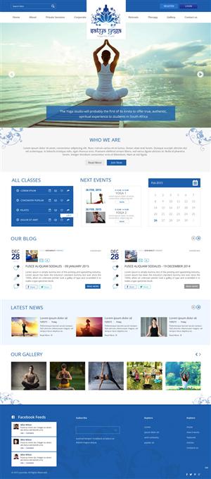 Yoga Web Design Galleries for Inspiration