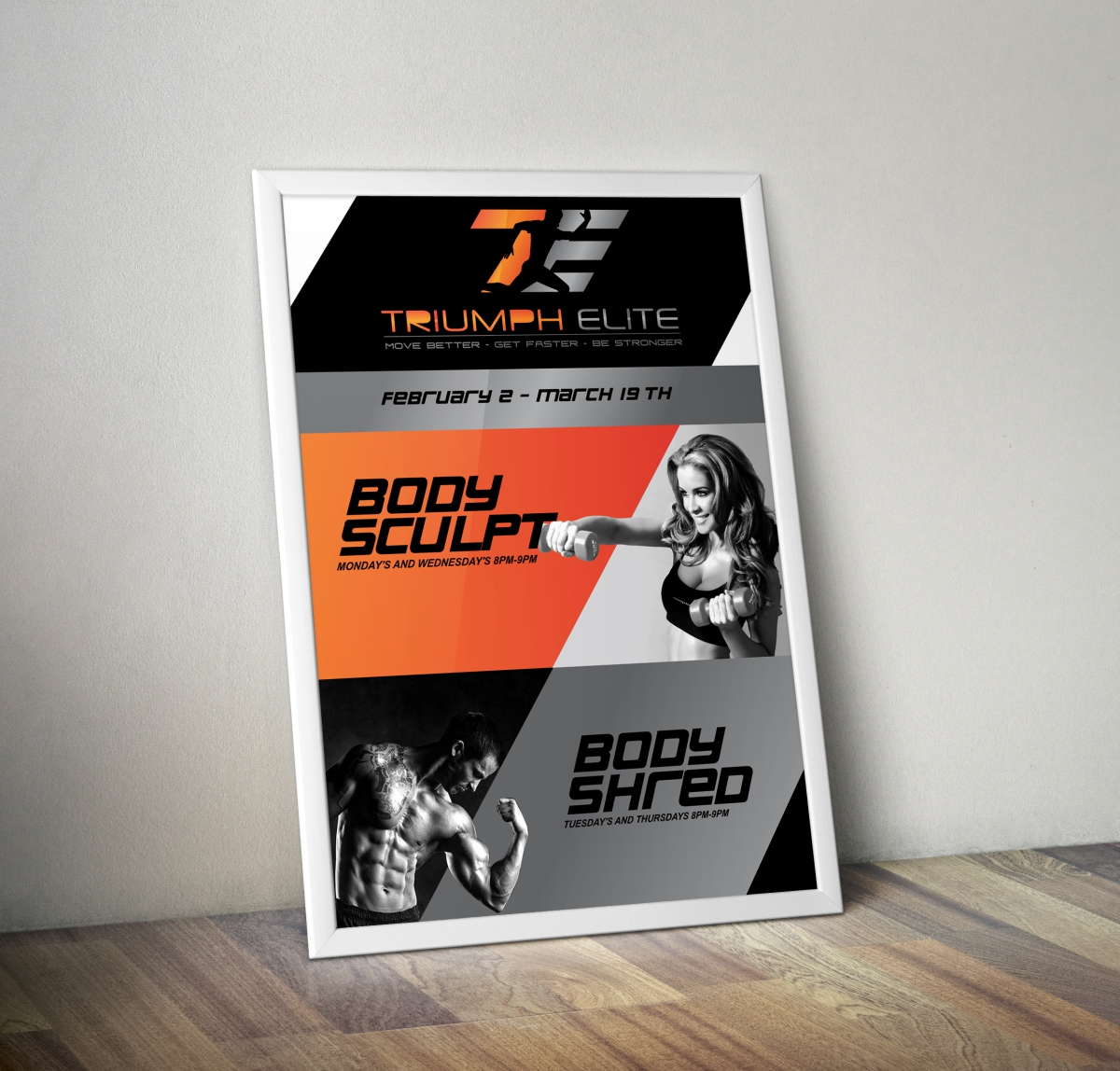 Poster design questionnaire - Poster Design By Cb1318cb1318 For Personal Training Boot Camp Poster Design 5278749