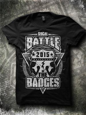 T-shirt Design by Jonya - So Cal Battle of the Badges