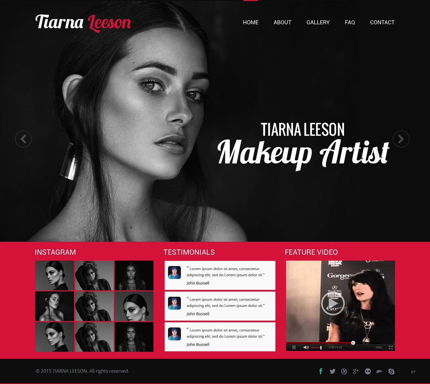 Upmarket, Serious Web Design for TIARNA LEESON makeup artist by pb ...