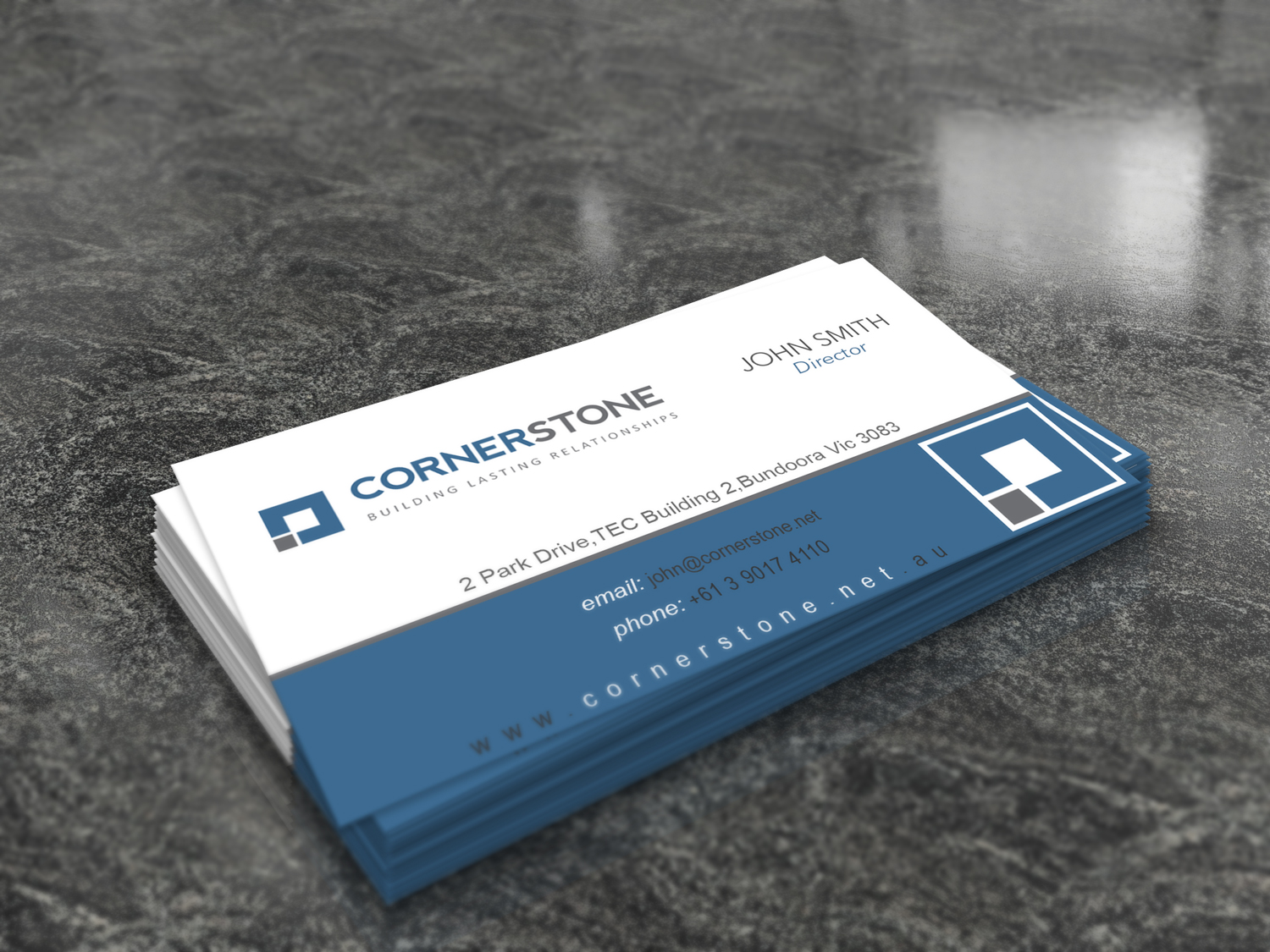 Software Business Card Design for Cornerstone Computing by Bran ...