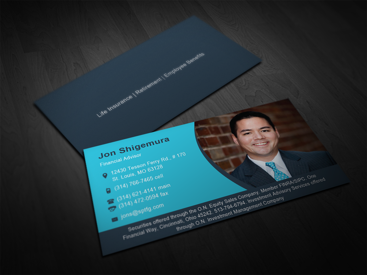 business card design for jon shigemura by tornado