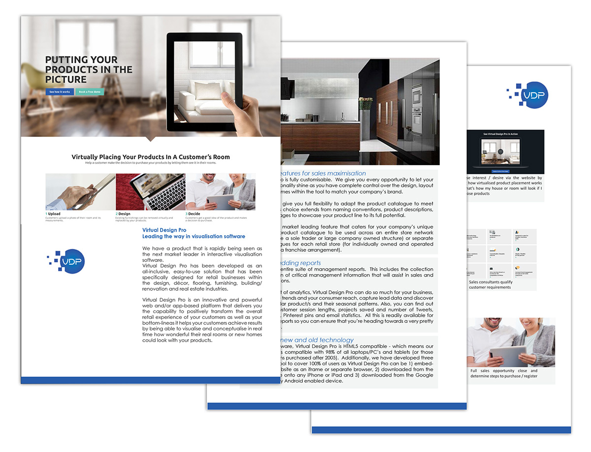 serious professional software brochure design for a company by