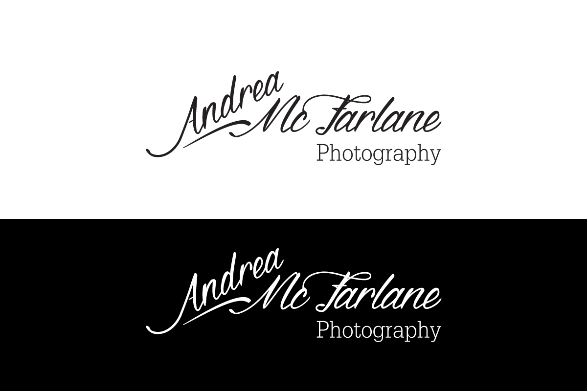 Black and White Photography Signature Logo Design by Antony J