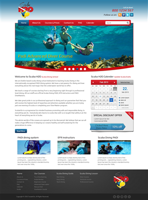 Web Design by OM - New website for Scuba Diving School 'ScubaH2o' ...