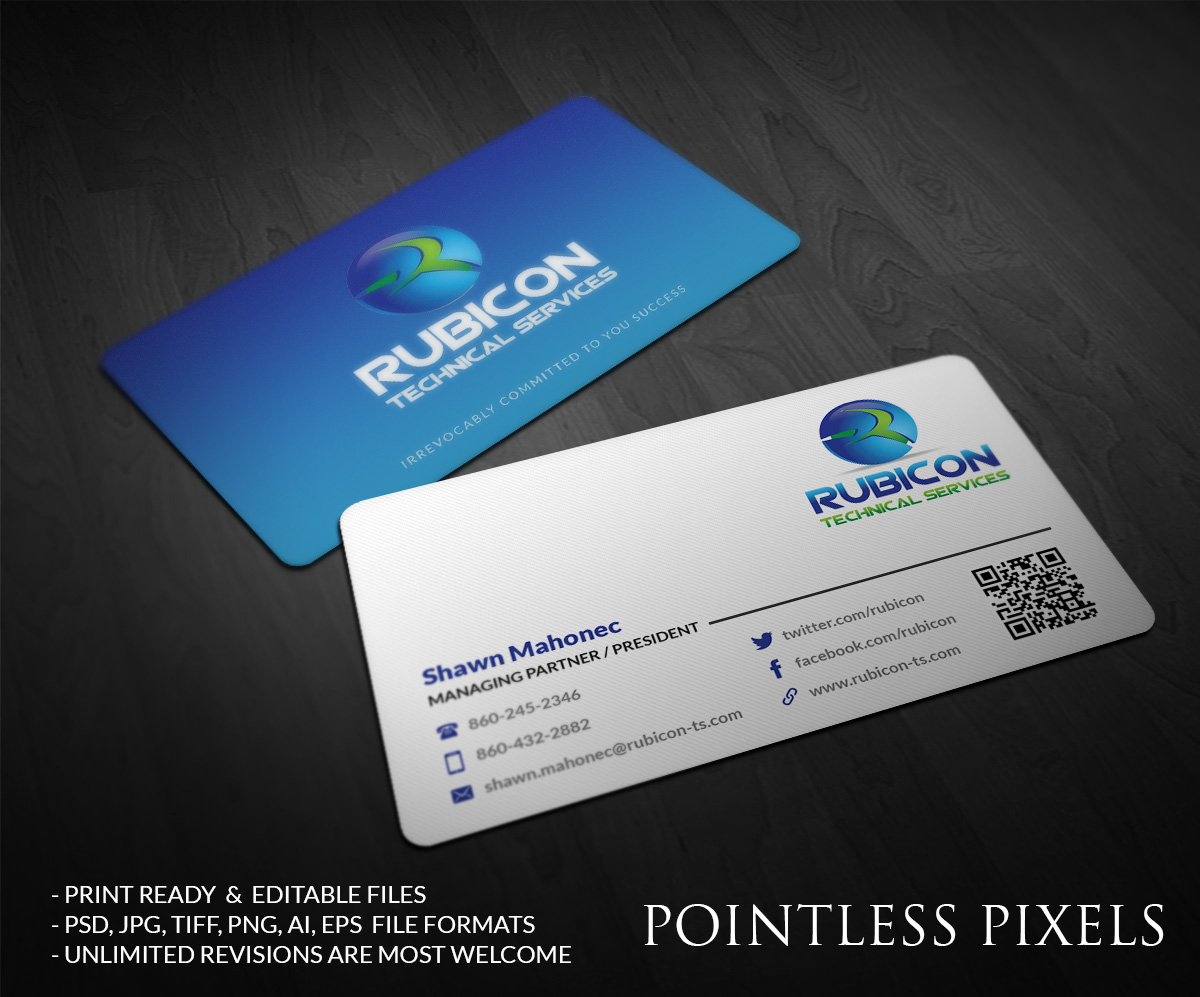 It Company Business Card Design for Mahonec Enterprises by Pointless ...