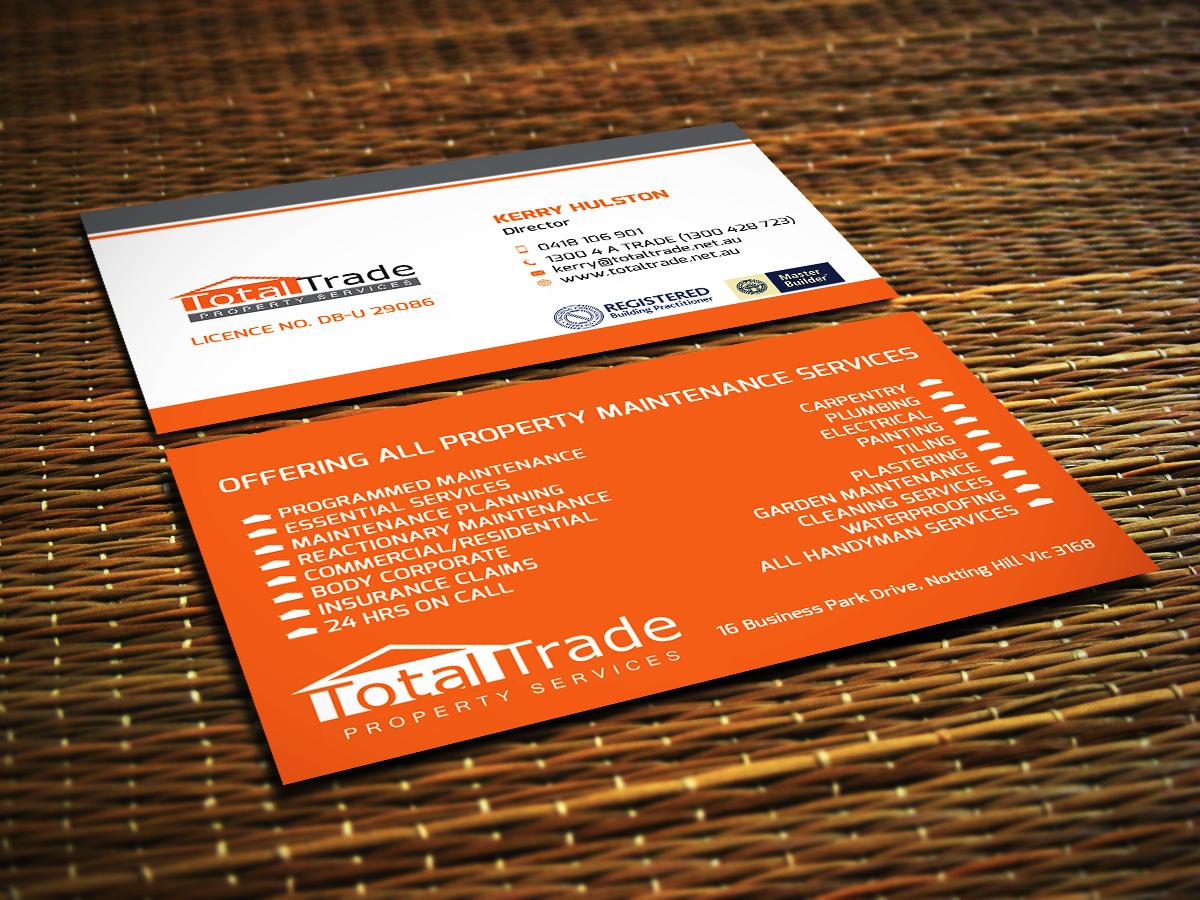 elegant playful property maintenance business card design for a