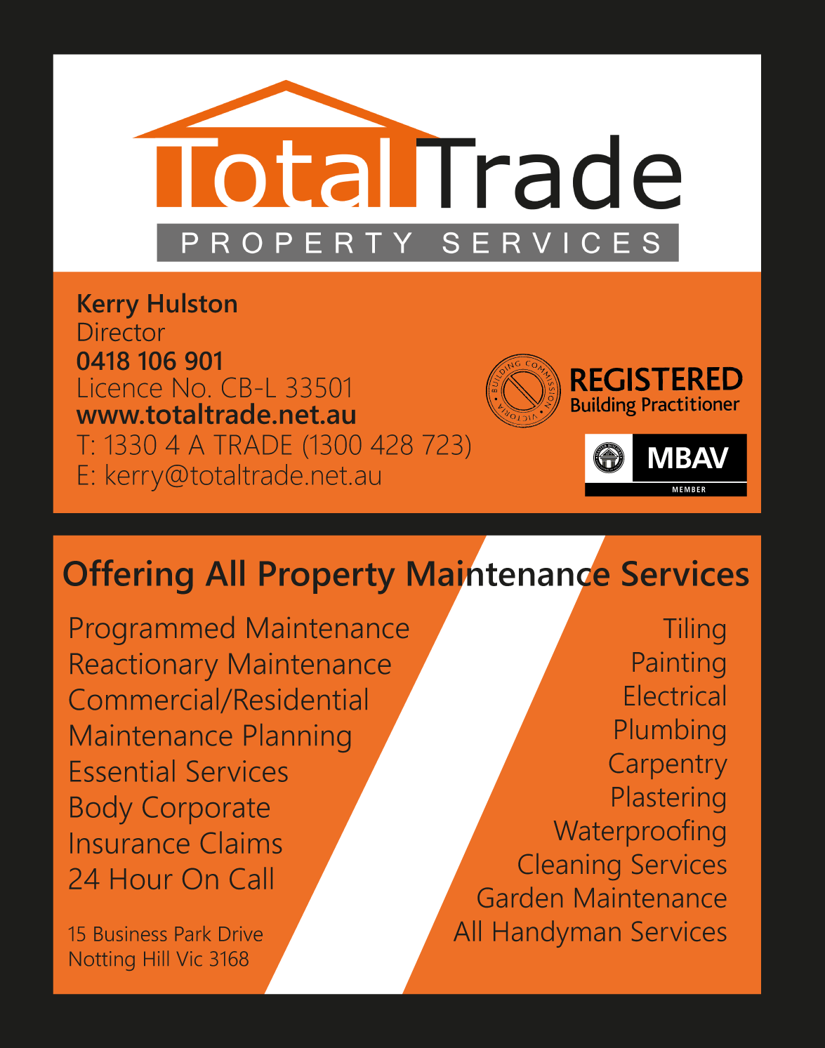 Property Maintenance Business Cards | Arts - Arts