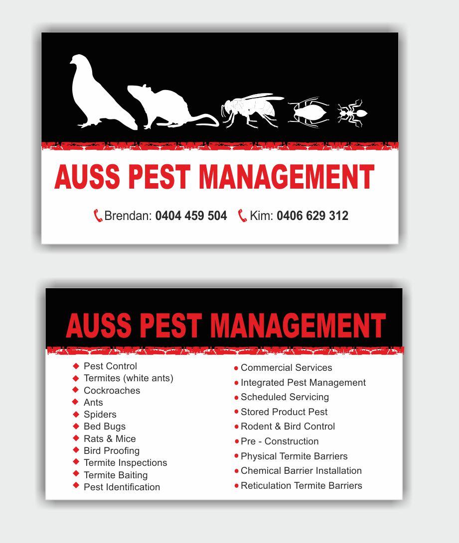 Vermin Control Business Cards Design