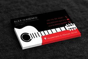 guitar business card design galleries for inspiration