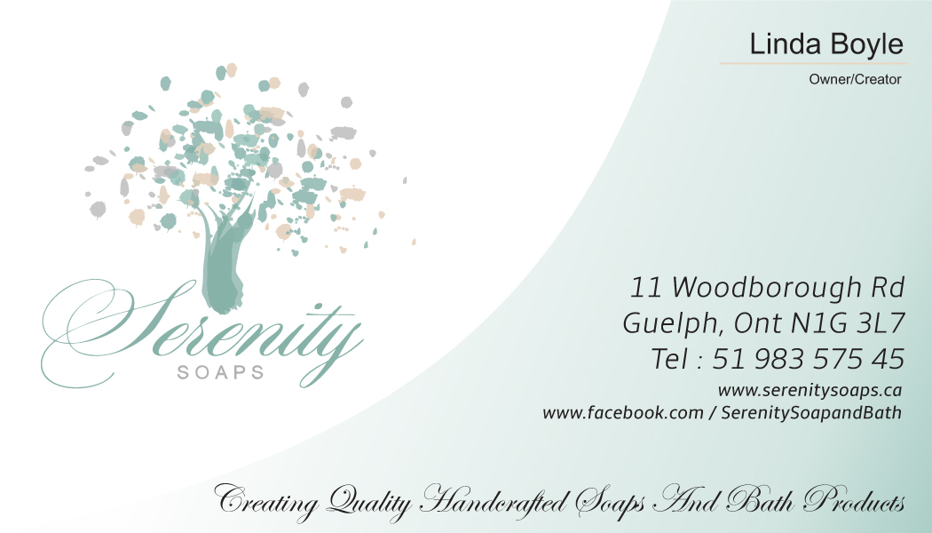 Elegant modern business business card design for serenity soaps by business card design by nilesh a jayatillake for serenity soaps design 5281738 reheart Gallery