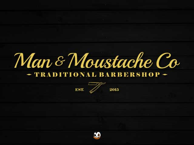 Man & mustache Co Logo Design by Fatboy Design