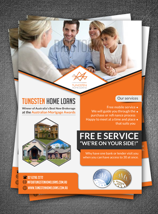 Flyer design for tungsten home loans by esolz technologies for Household design company