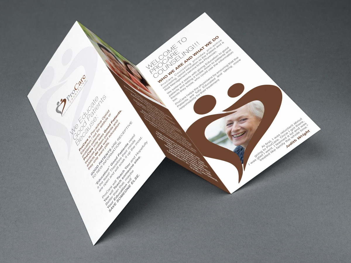 Professional upmarket quote brochure design for pro care for Brochure design quotation