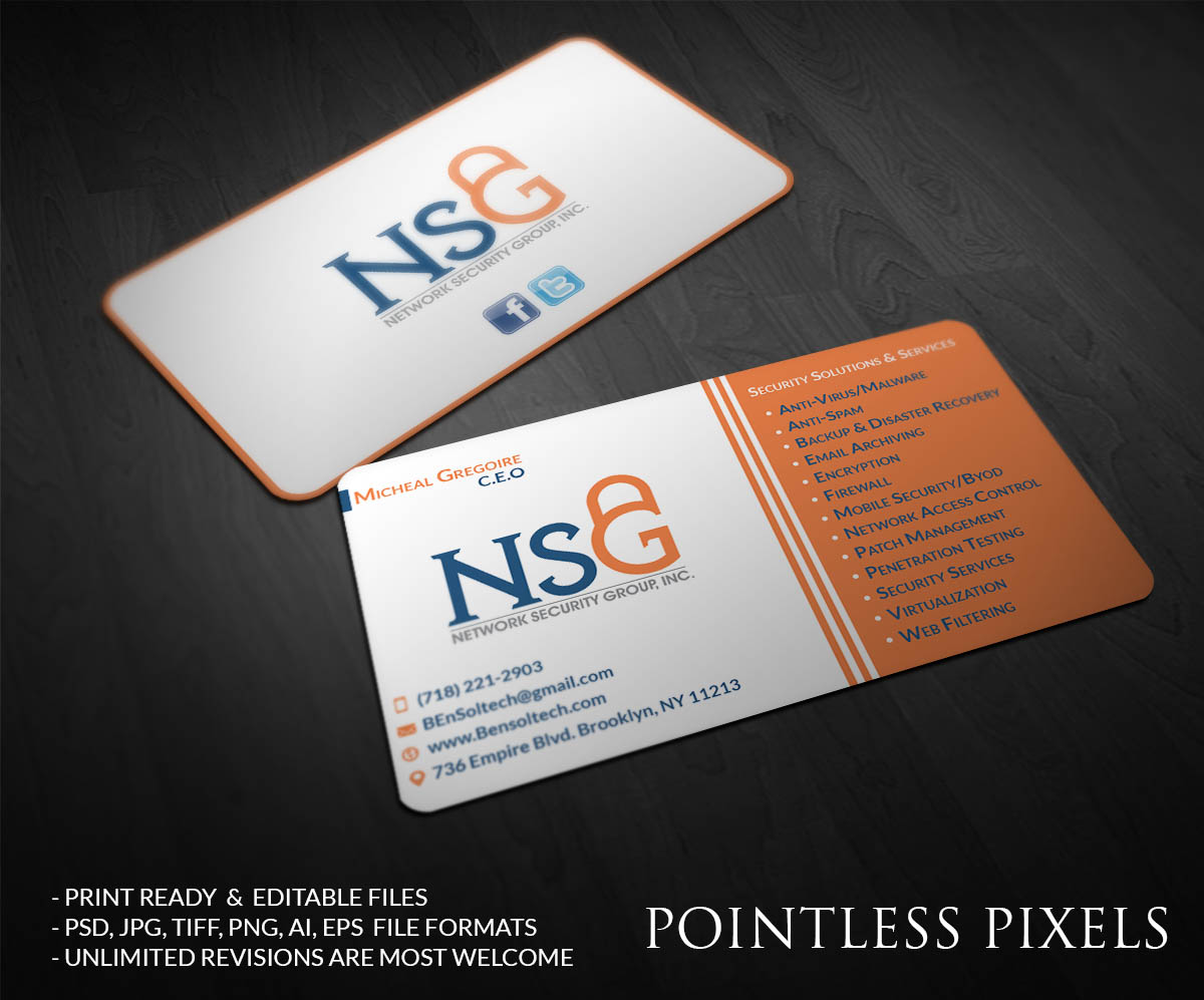Elegant, Playful Business Card Design by Pointless Pixels India ...