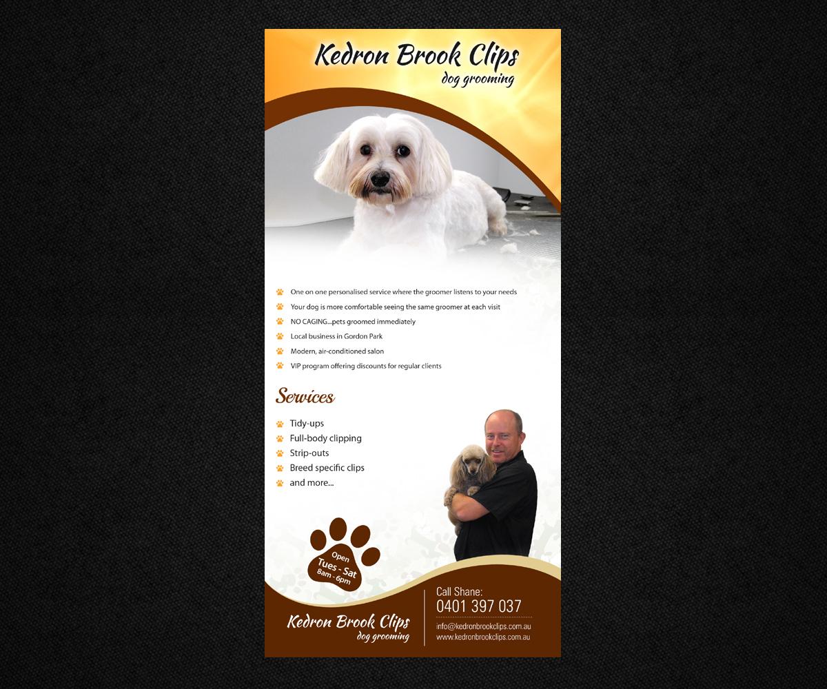 Playful modern flyer design for kedron brook clips by ovimatic design 5419880 for Action clips grooming salon