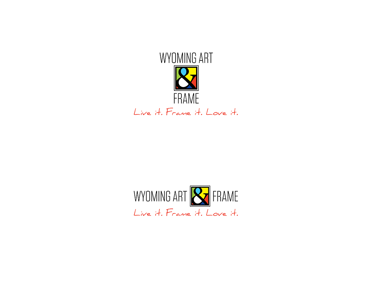 Logo Design for WYOMING ART & FRAME Live it. Frame it. Love It. by ...