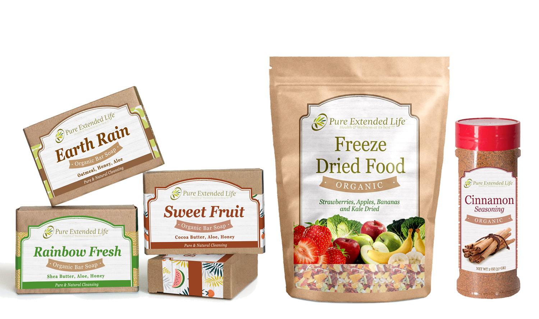 Bar Soap Labels, Freeze Dry Food Labels & Seasoning Label