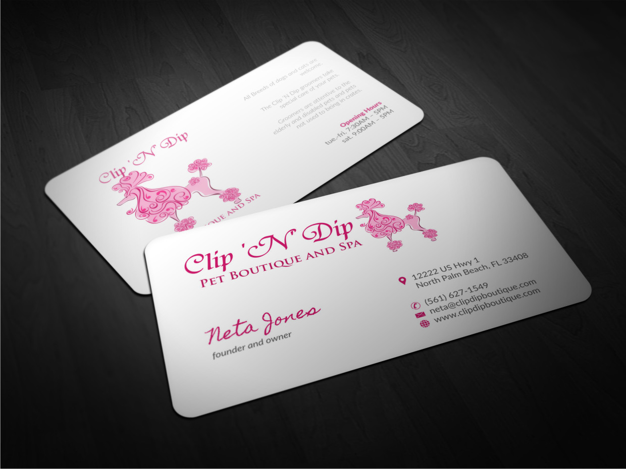 Business Business Card Design for clip n dip by Atvento Graphics ...