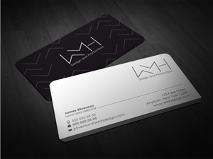 Letter business card design galleries for inspiration wmh design business card business card design by atvento graphics reheart Images