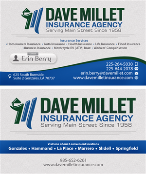 87 professional business card designs insurance business card business card design by mauricio aleman for this project design 5322473 reheart Images