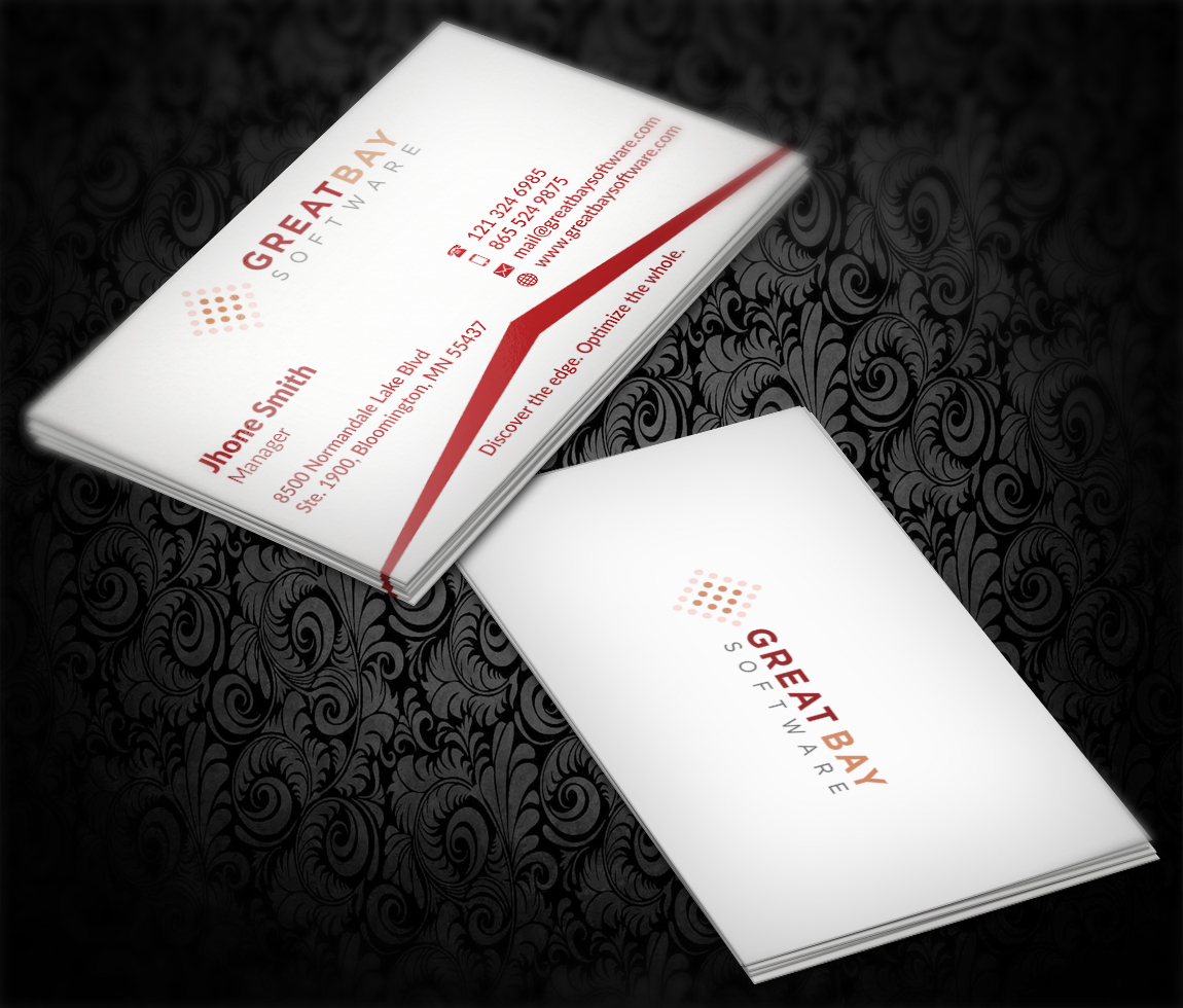 Software Business Card Design for Great Bay Software by AFHUN ...
