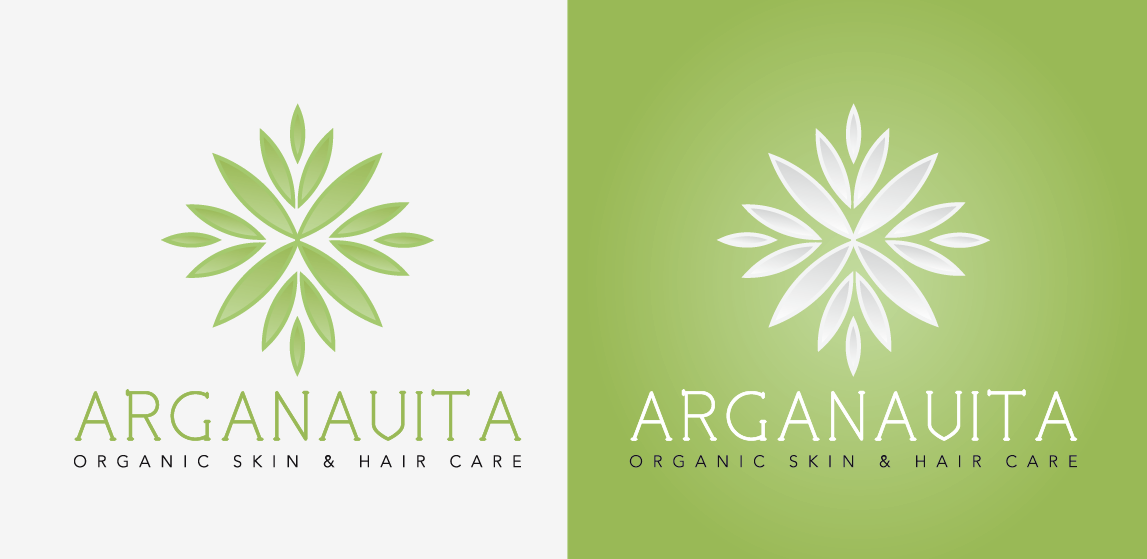 Hair Logo Design for Arganavita + slogan (organic skin