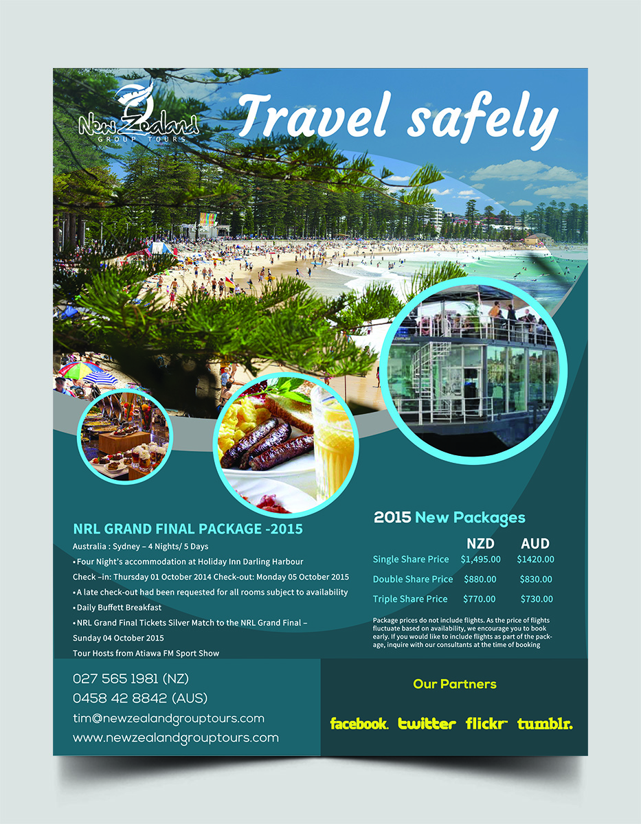 travel flyers examples