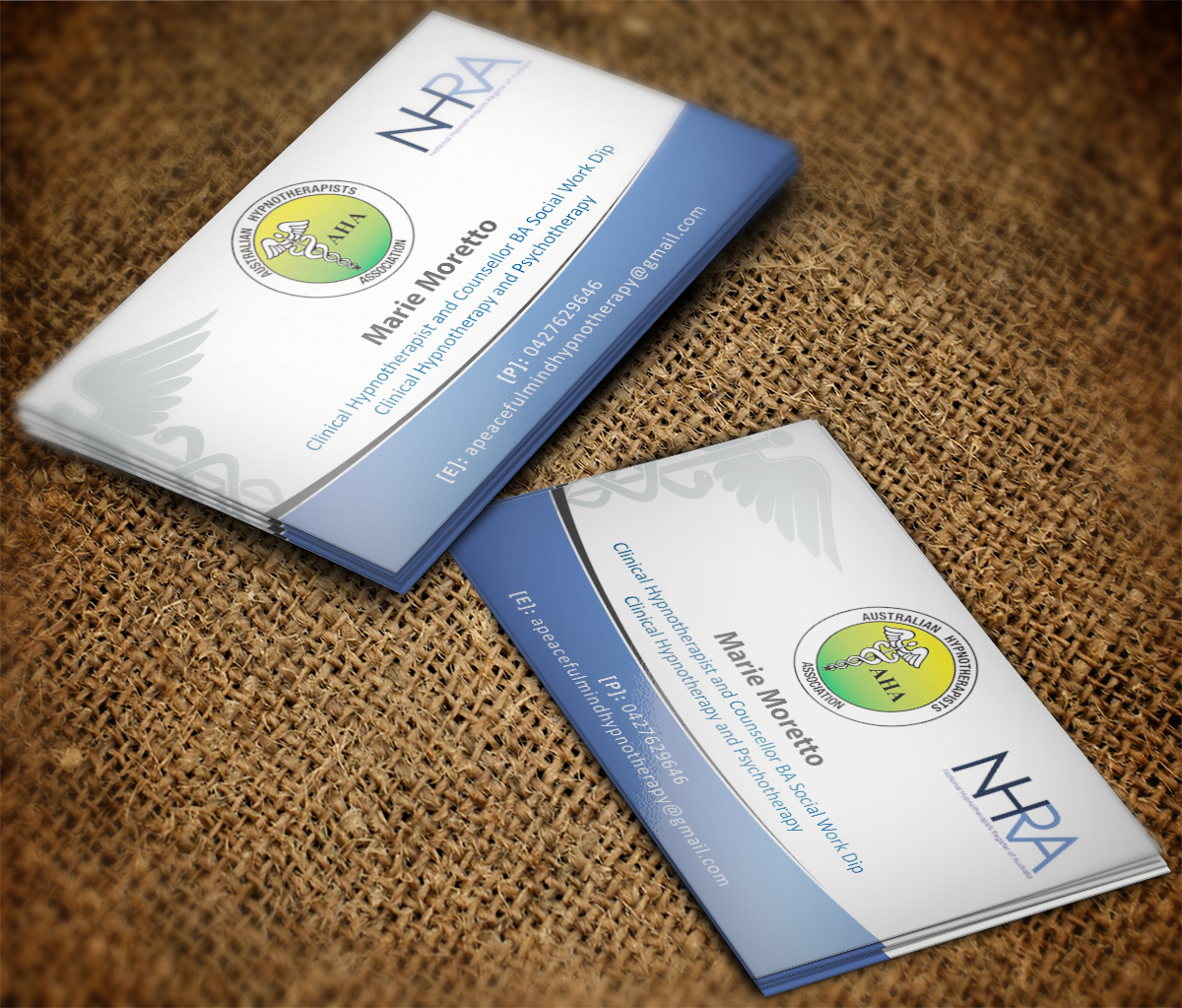 Hypnotherapy Business Card Design for a Company by MT | Design #5399623