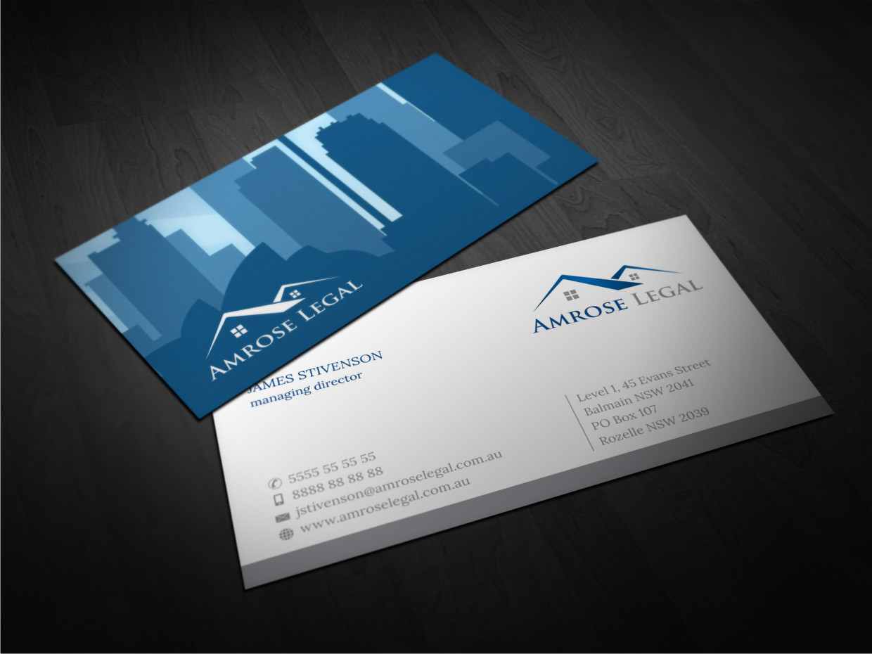 Elegant modern law firm business card design for a for Firm company