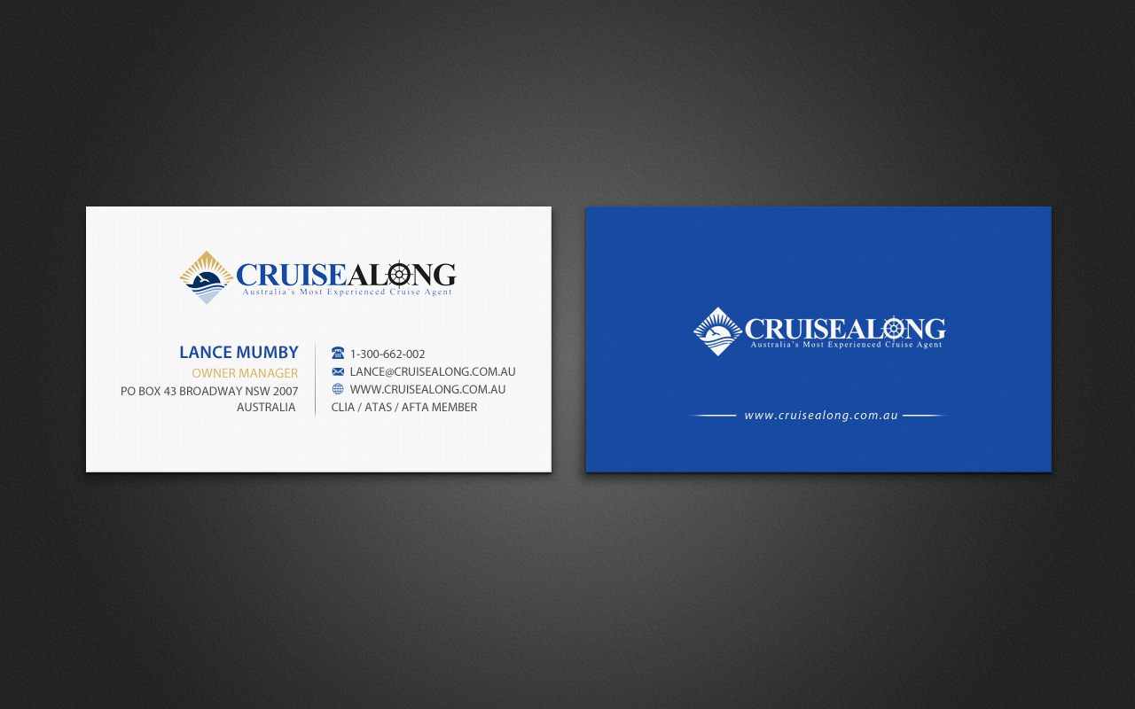 Elegant, Playful Business Card Design for CruiseAlong Pty Ltd by ...
