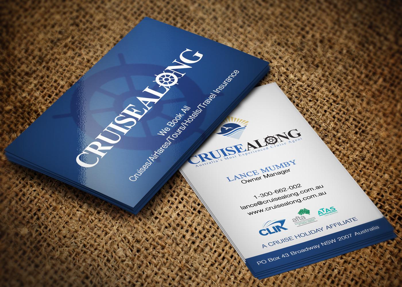 Elegant, Playful Business Card Design for CruiseAlong Pty Ltd by ...